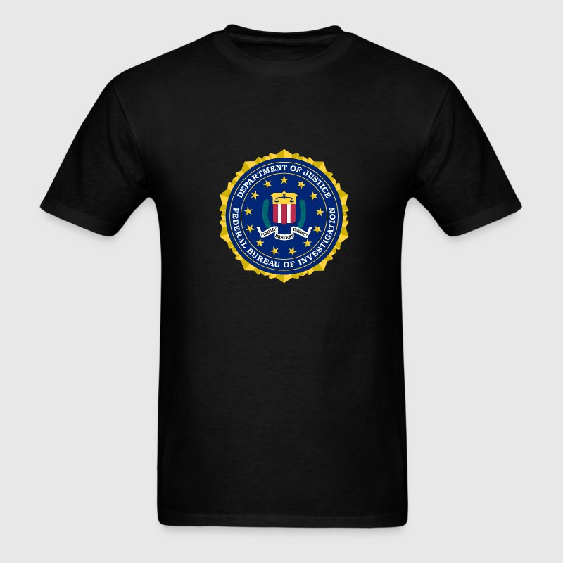 Black FBI - NAUTEE.com T-Shirts - Men's T-Shirt