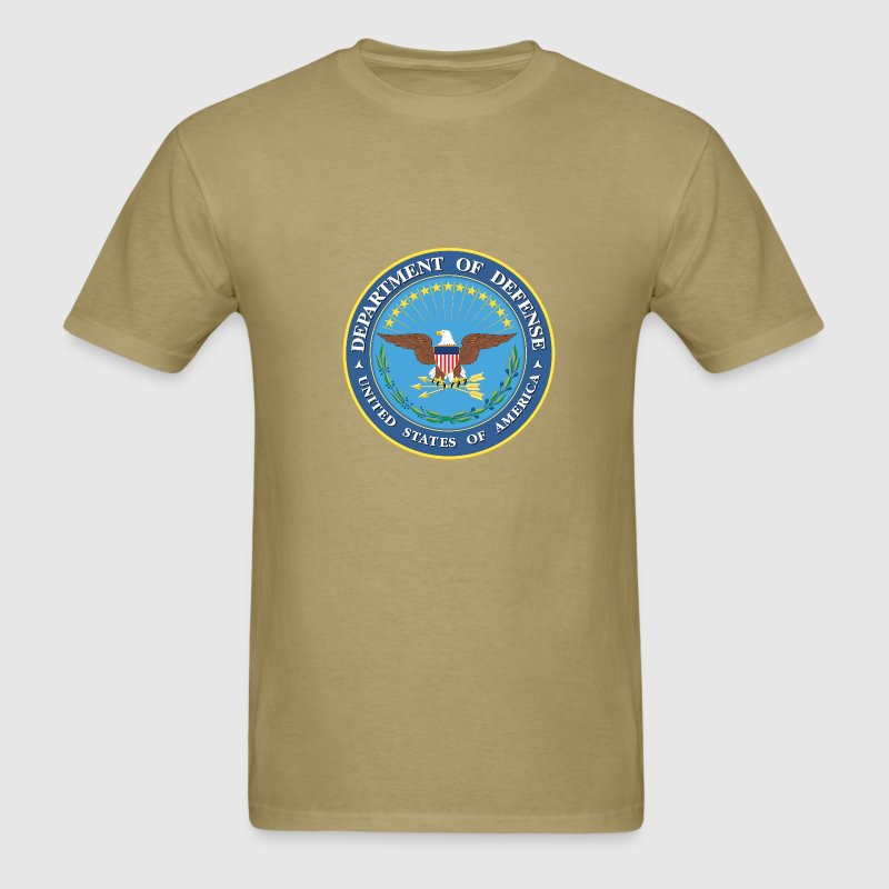 Khaki DoD seal - MILITEE.us T-Shirts - Men's T-Shirt