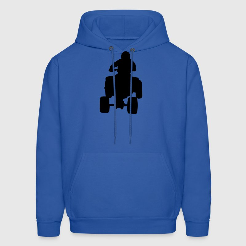 Royal blue 4 wheeler Hoodies - Men's Hoodie