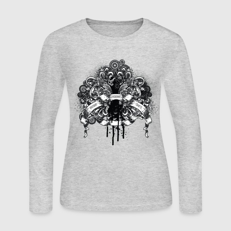 Gray vintage designer tshirts design Long sleeve shirts - Women's Long Sleeve Jersey T-Shirt
