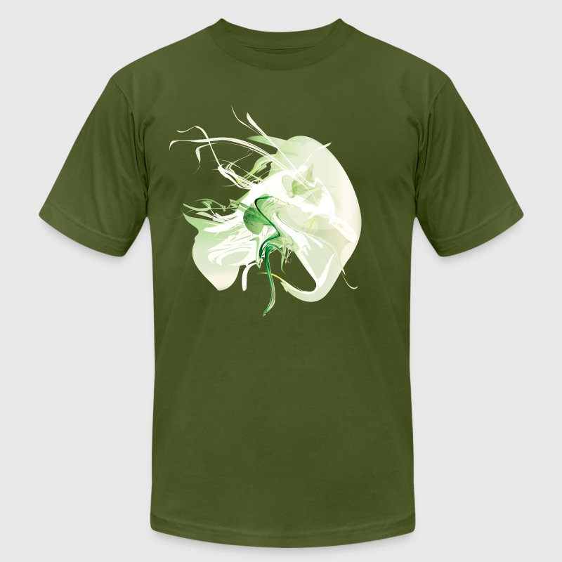 Olive Cool Green Smoke Graphic T-Shirts - Men's T-Shirt by American Apparel