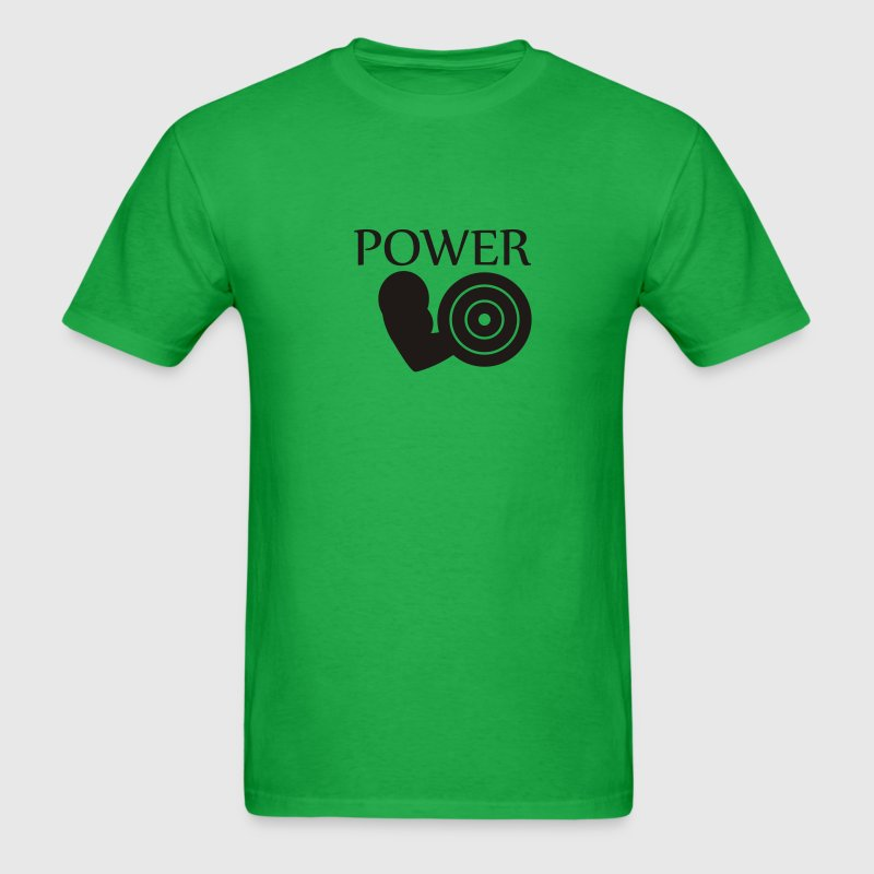 Bright green Power - Bodybuilding T-Shirts - Men's T-Shirt