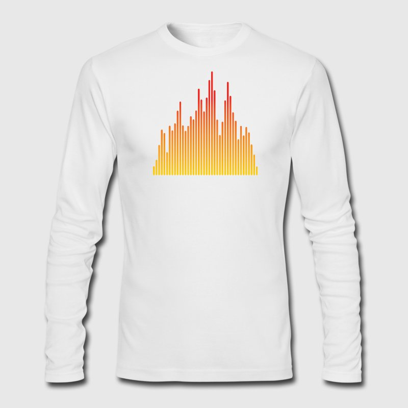 White audio levels music design Long sleeve shirts - Men's Long Sleeve T-Shirt by Next Level