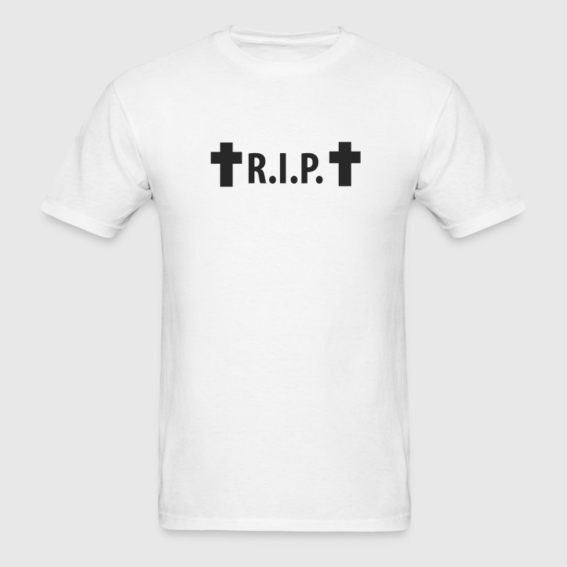 R I P Rip Rest In Peace Cross T Shirt Spreadshirt