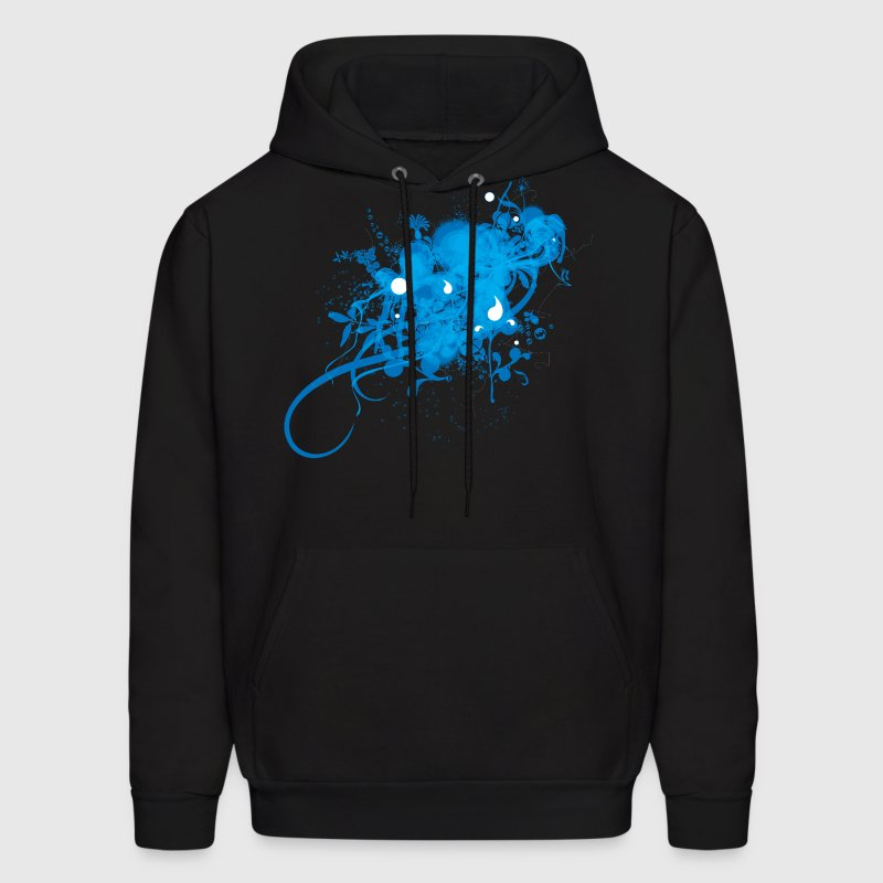 Black Painting designer Ice Graphic   Hoodies - Men's Hoodie