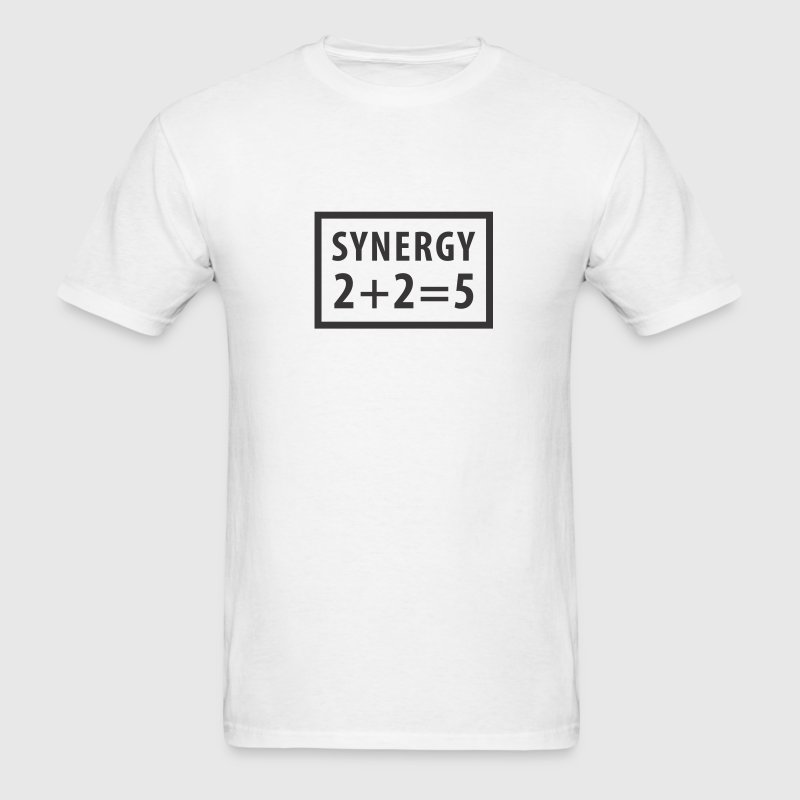 White Synergy T-Shirts - Men's T-Shirt