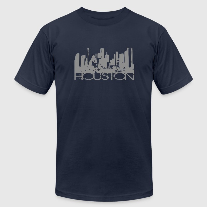 Navy Houston Texas T-shirt Design T-Shirts - Men's T-Shirt by American Apparel