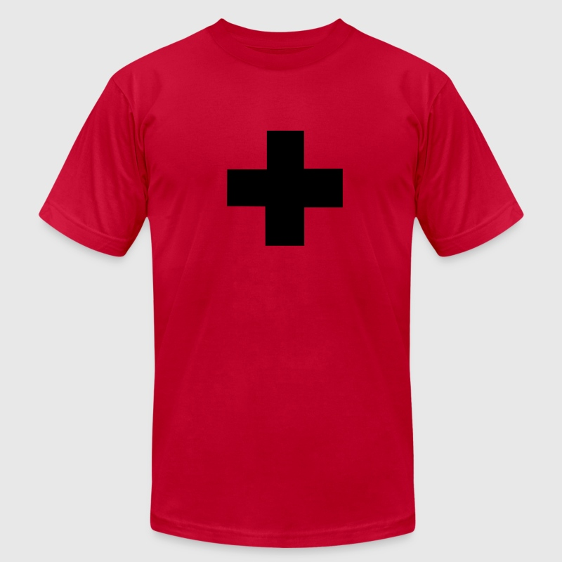 Red Swiss T-Shirts - Men's T-Shirt by American Apparel