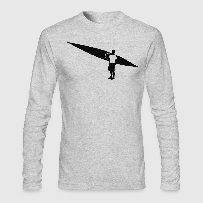 White Sea kayaker and Kayak flex design Long sleeve shirts - Men's Long Sleeve T-Shirt by Next Level