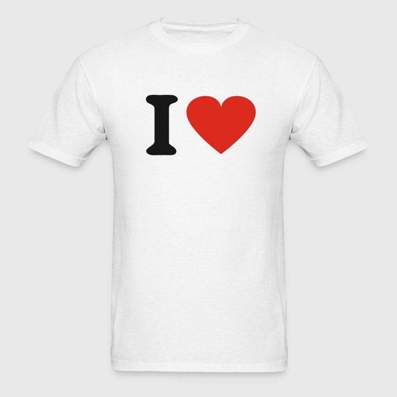 White I Heart T-Shirts - Men's T-Shirt