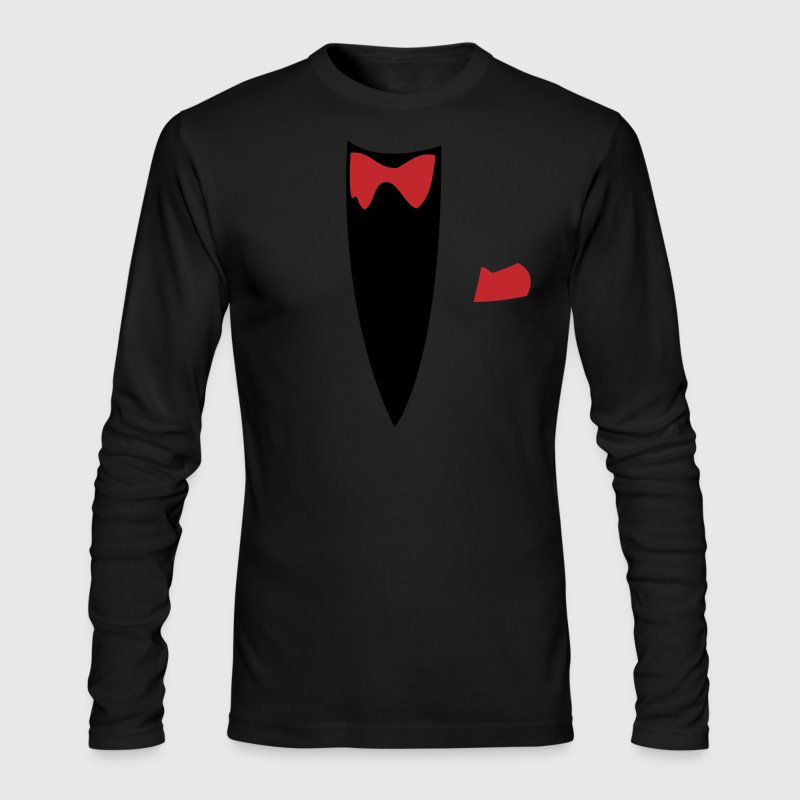 Black Funny Joke Tux Gag T-shirts Long sleeve shirts - Men's Long Sleeve T-Shirt by Next Level