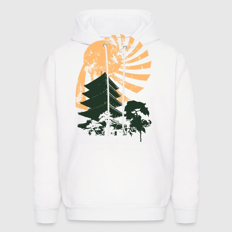 White Vintage Designs Sun Hoodies - Men's Hoodie