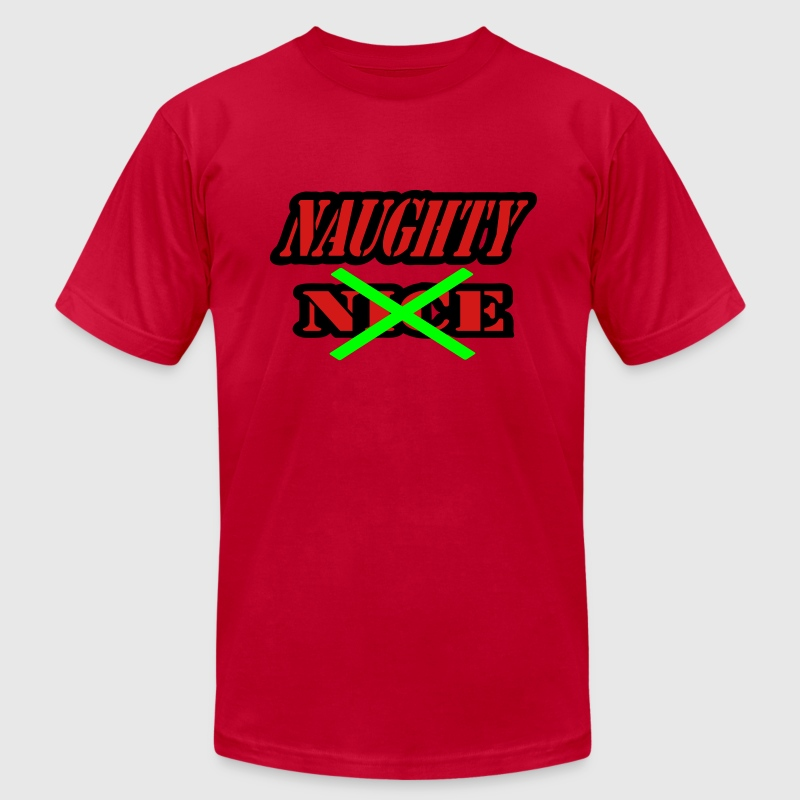 Red Naughty, Not Nice T-Shirts - Men's Fine Jersey T-Shirt