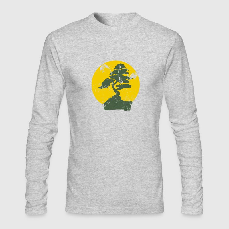 White Vintage Bonzai Tree Graphic Long sleeve shirts - Men's Long Sleeve T-Shirt by Next Level