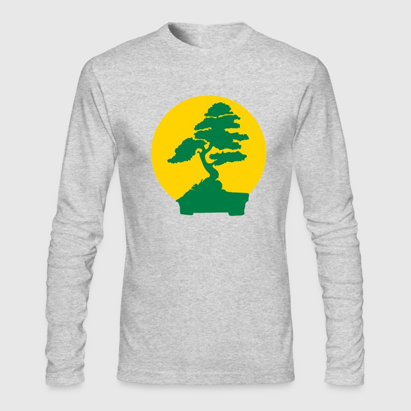 White Karate Kid bonsai tree (2 color flex) Long sleeve shirts - Men's Long Sleeve T-Shirt by Next Level