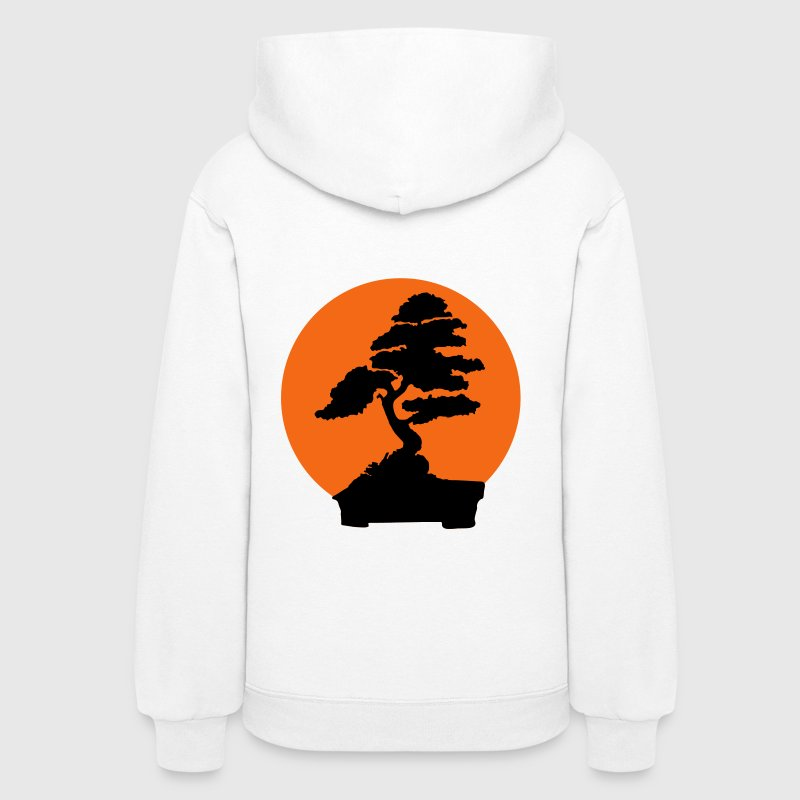 White Karate Kid bonsai tree (2 color flex) Hooded Sweatshirts - Women's Hoodie