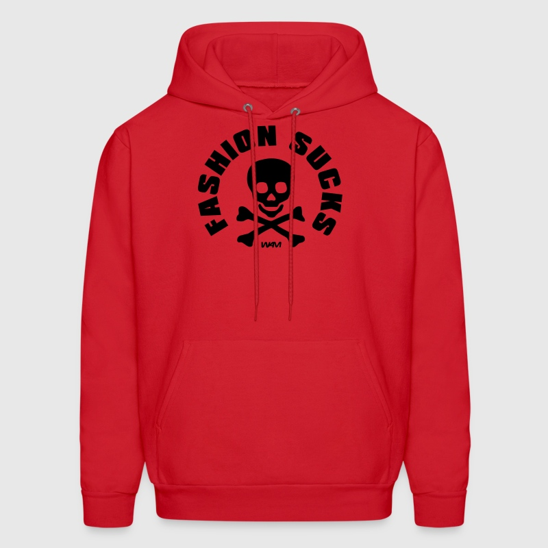 Red fashion sucks by wam Hoodies - Men's Hoodie