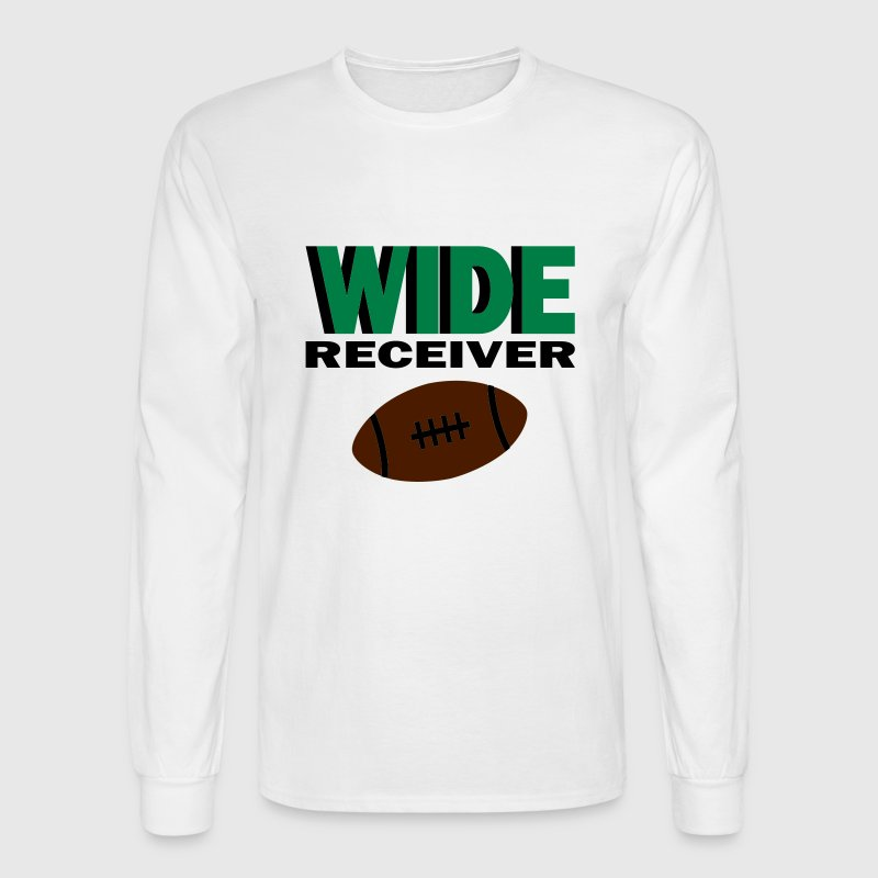 White Wide Receiver With Football Long sleeve shirts - Men's Long Sleeve T-Shirt