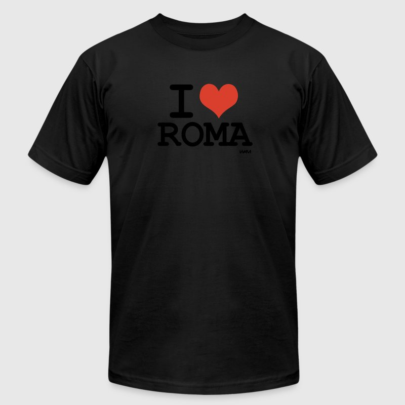 Black i love roma by wam T-Shirts - Men's Fine Jersey T-Shirt