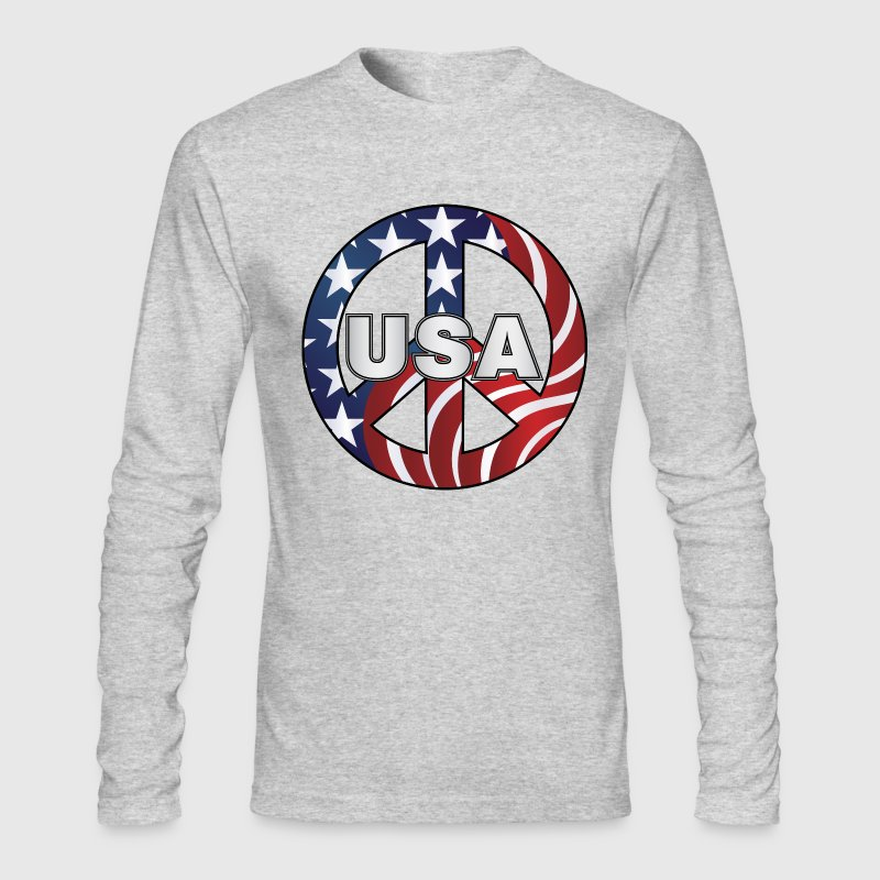 USA Peace Sign - Men's Long Sleeve T-Shirt by Next Level