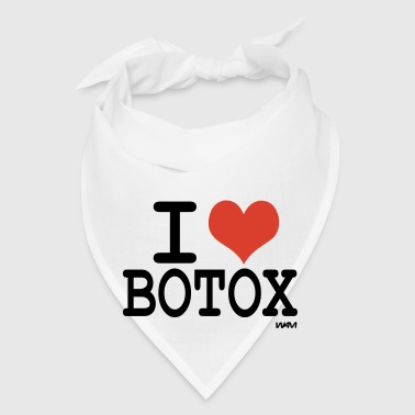 White i love botox by wam Buttons - Bandana