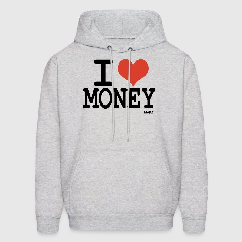 Ash  i love money by wam Hoodies - Men's Hoodie