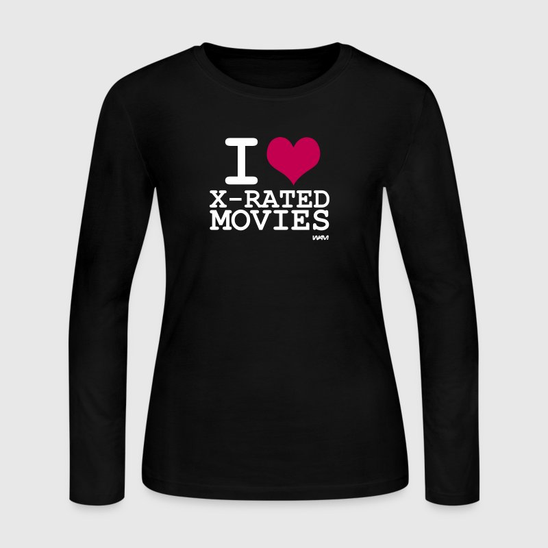 Black i love xmovies by wam Long sleeve shirts - Women's Long Sleeve Jersey T-Shirt