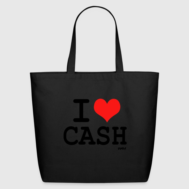 Black i love cash money by wam Bags  - Eco-Friendly Cotton Tote