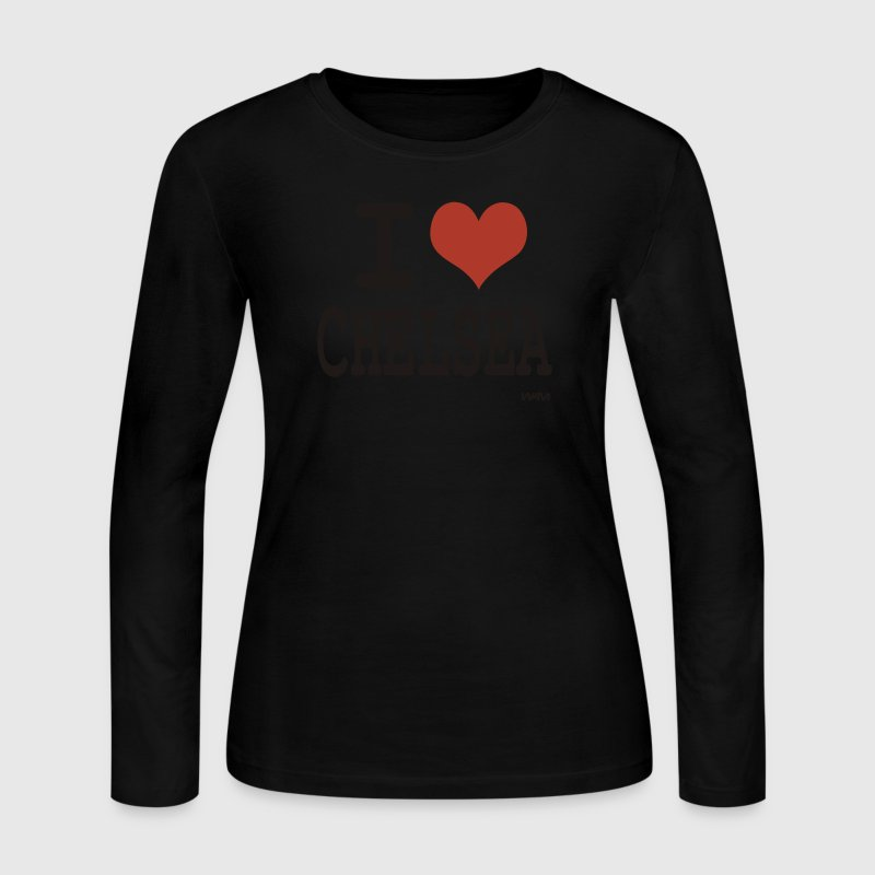 Black i love Chelsea by wam  Long sleeve shirts - Women's Long Sleeve Jersey T-Shirt