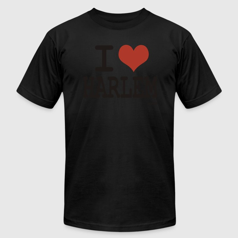 Black i love harlem by wam T-Shirts - Men's T-Shirt by American Apparel