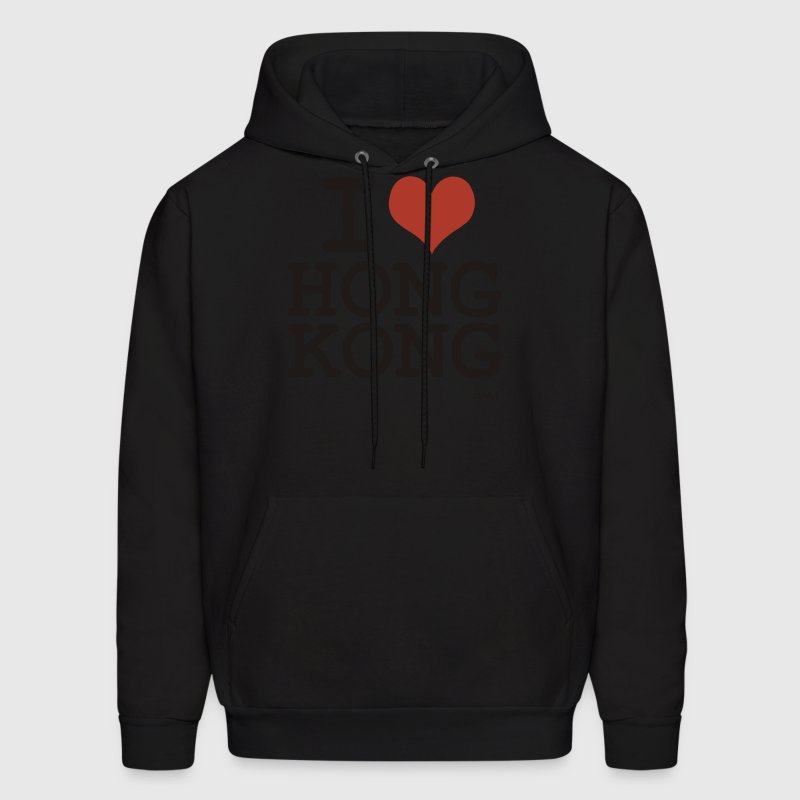Black i love hong kong by wam Hoodies - Men's Hoodie