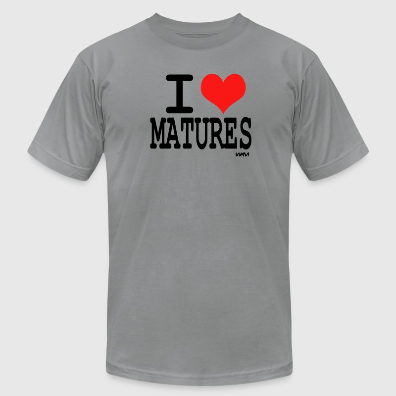 Slate i love matures by wam T-Shirts - Men's T-Shirt by American Apparel