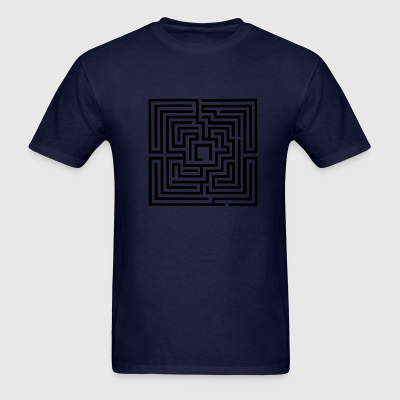 Navy Maze T-Shirts - Men's T-Shirt
