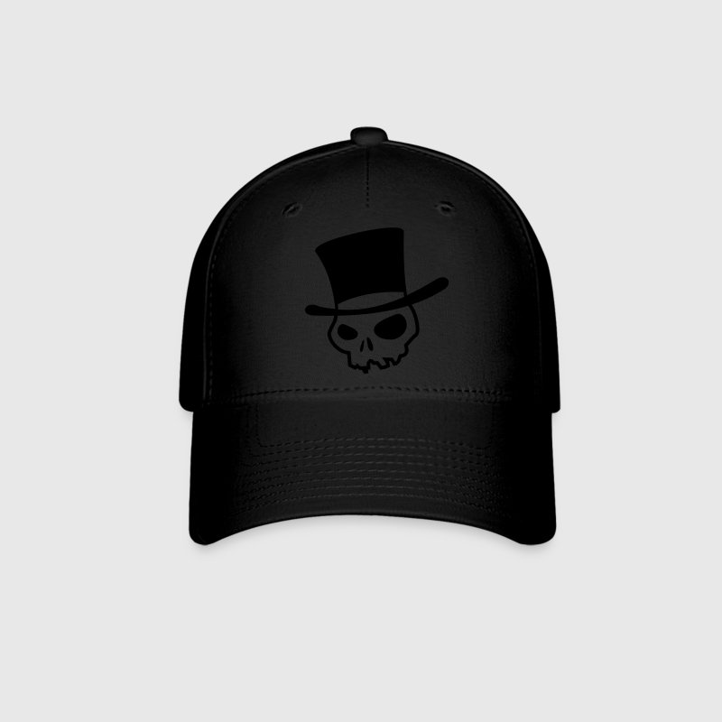 Black Skull with hat Caps - Baseball Cap