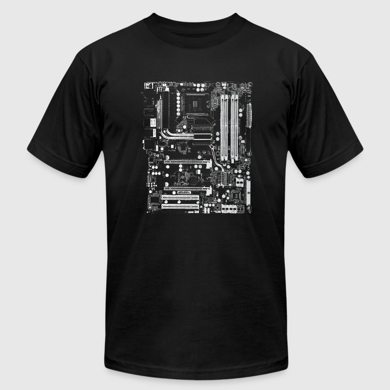 Black Computer Design T-Shirts - Men's T-Shirt by American Apparel