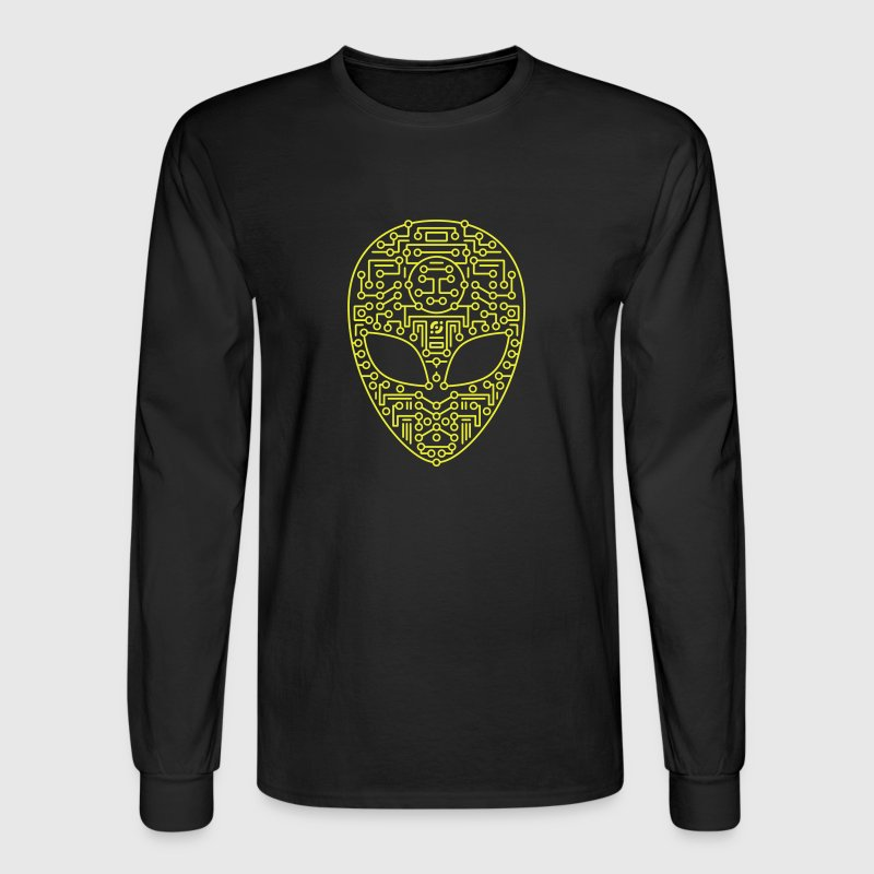 Black Alien Circuit Board  Long sleeve shirts - Men's Long Sleeve T-Shirt
