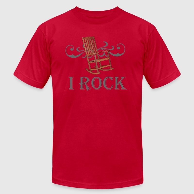 I ROCK T - Men's T-Shirt by American Apparel