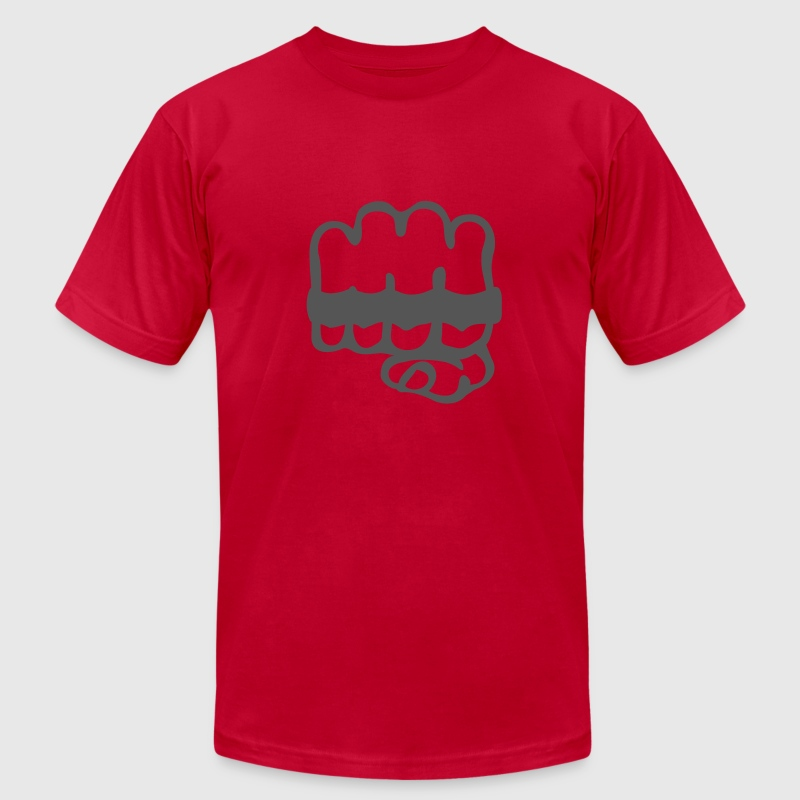 Red brass knuckles T-Shirts - Men's Fine Jersey T-Shirt