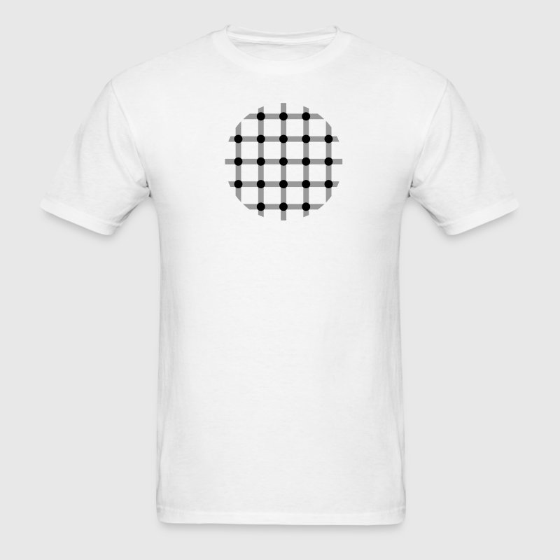 White optical illusion T-Shirts - Men's T-Shirt