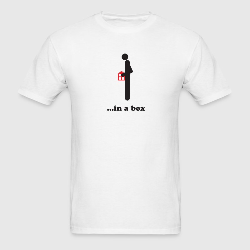 White Dick in a box T-Shirts - Men's T-Shirt