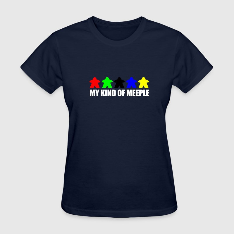 Navy Meeple Women's T-shirts - Women's T-Shirt