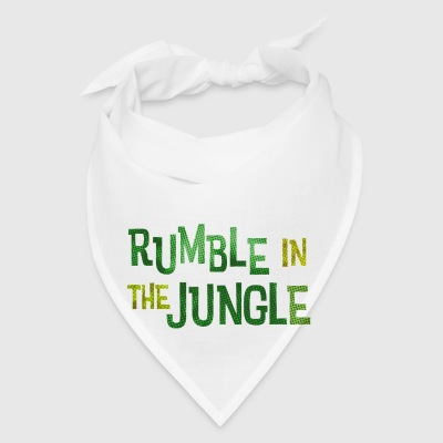 White rumble in the jungle Buttons - Bandana