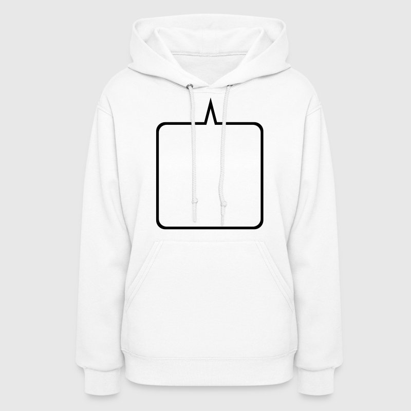 White Custom Add your Own Text,Fonts, and Colors Hooded Sweatshirts - Women's Hoodie