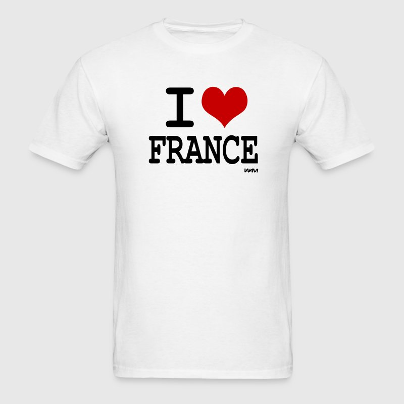 White i love france by wam T-Shirts - Men's T-Shirt