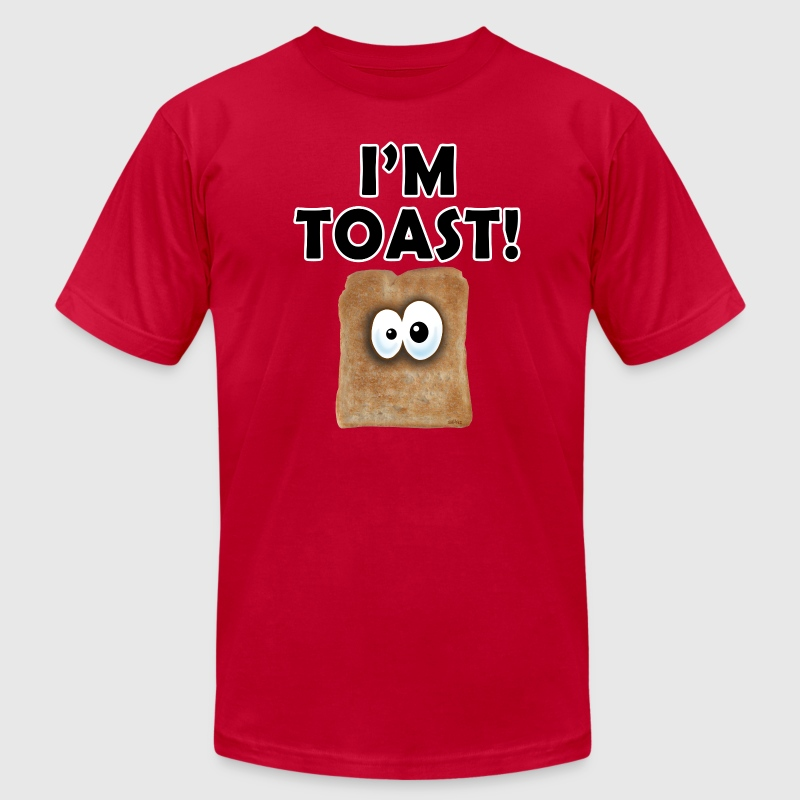 Light blue I'M TOAST! T-Shirts - Men's Fine Jersey T-Shirt