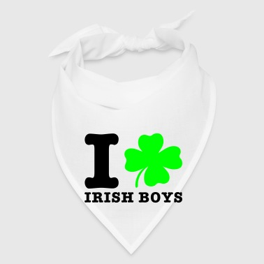 White i love irish boys Buttons - Bandana