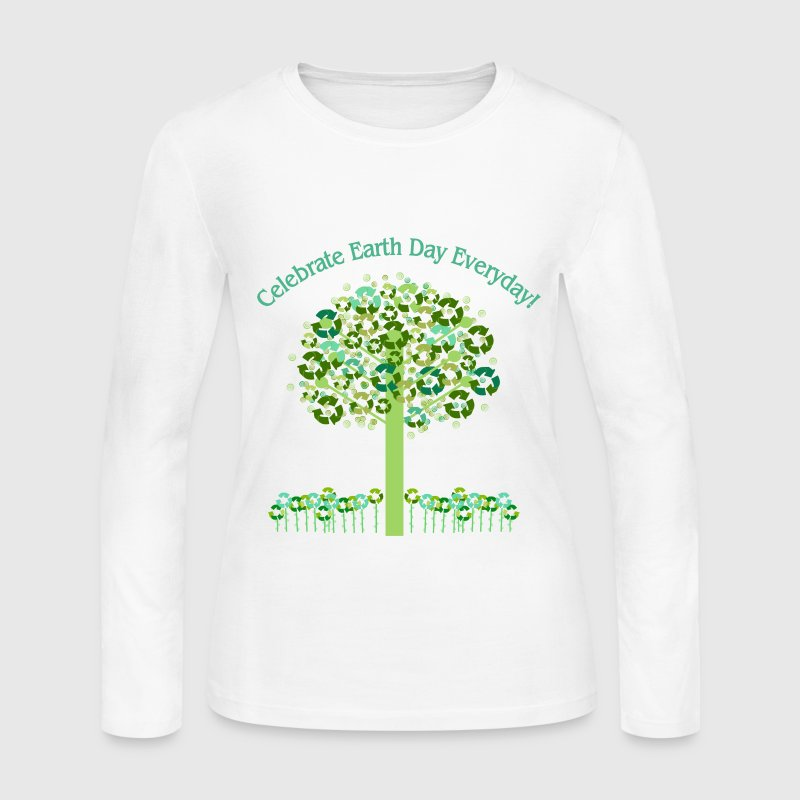 White Celebrate Earth Day Everyday Long sleeve shirts - Women's Long Sleeve Jersey T-Shirt