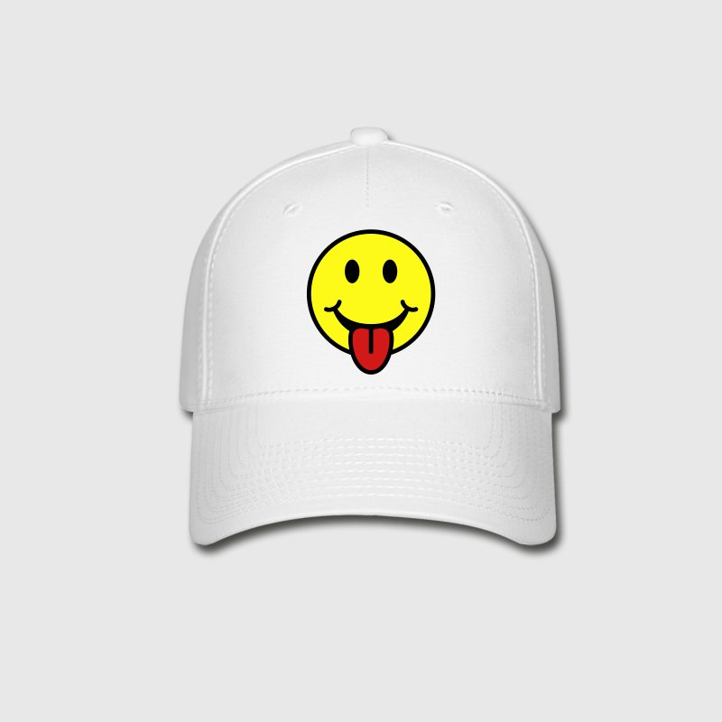 Smiley with Tongue Hat - Baseball Cap