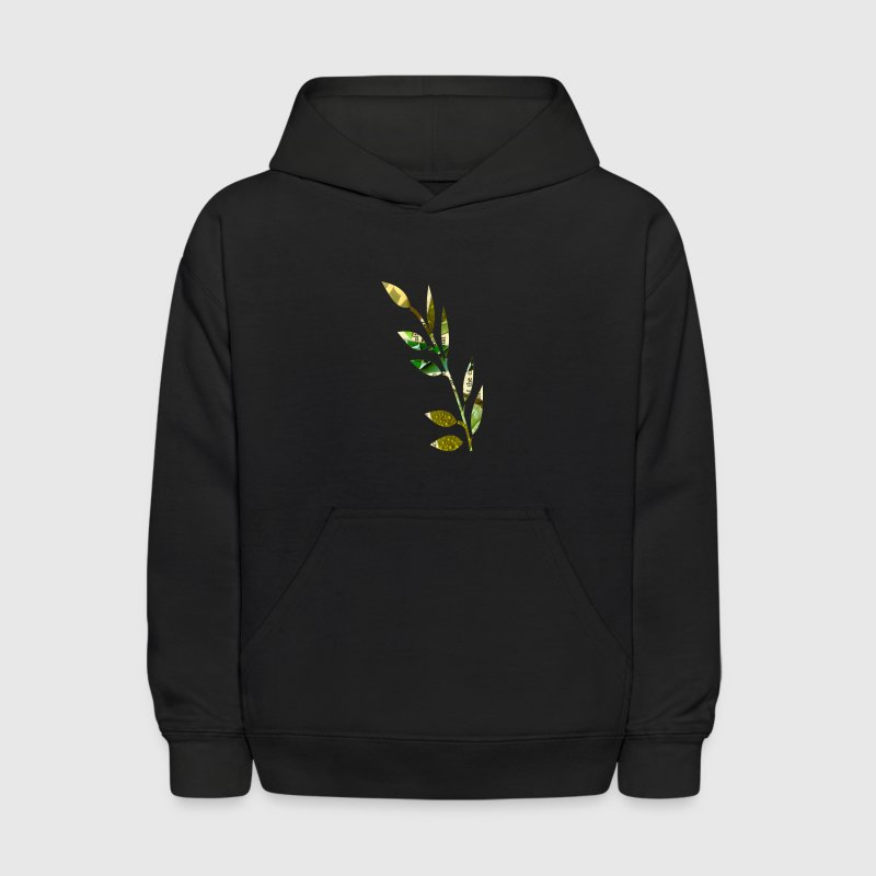 Black COLLAGE FERN Sweatshirts - Kids' Hoodie