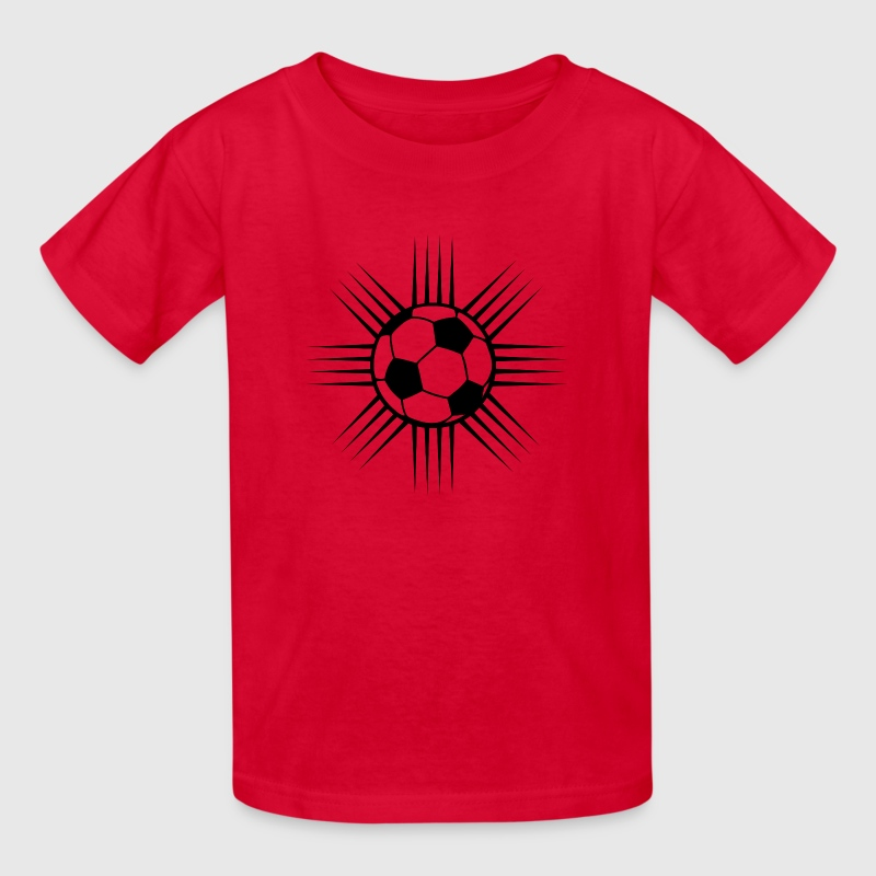 red cool soccer ball design or team logo kids shirts kids t shirt